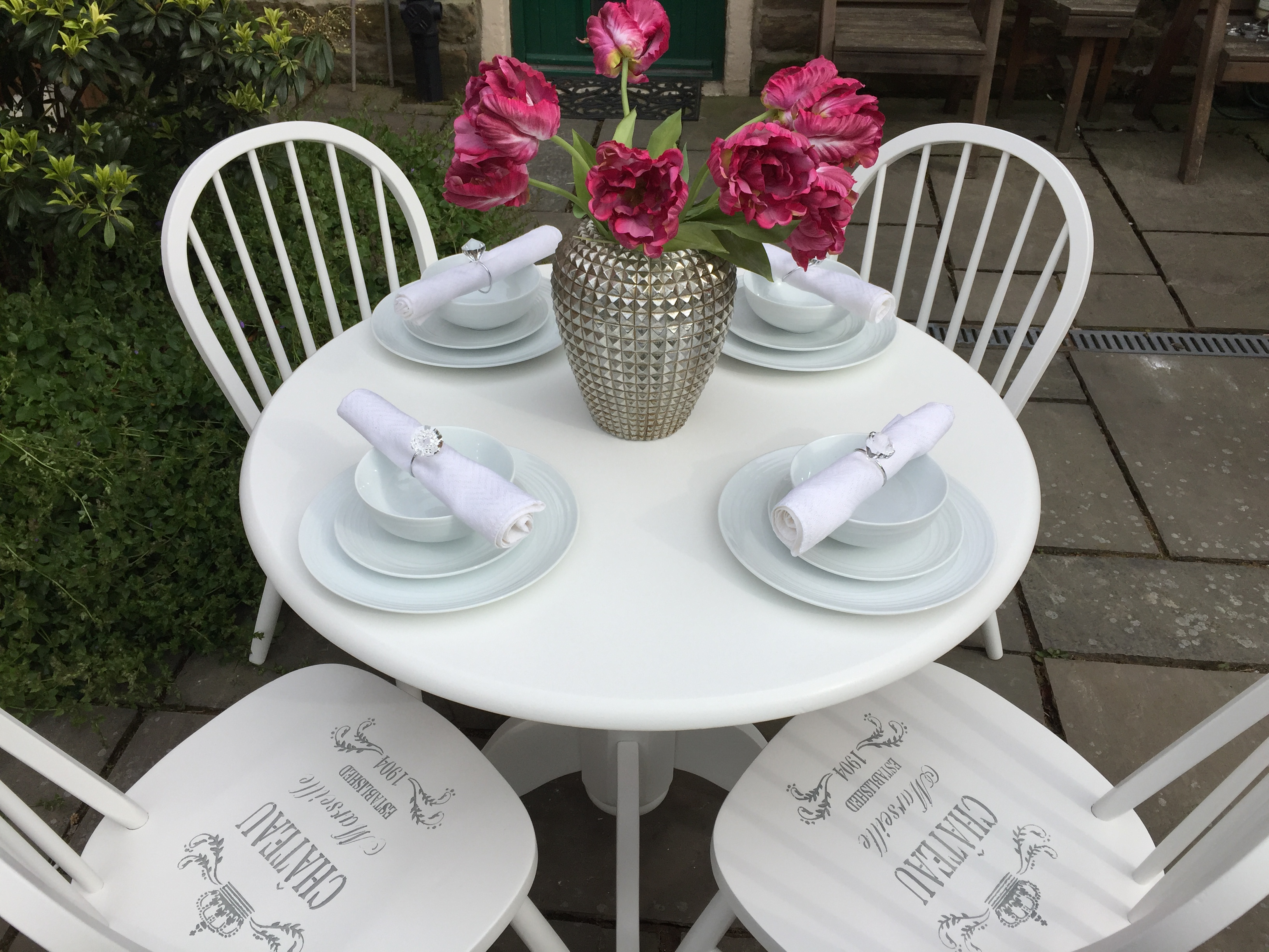 French Chic Dining Table & 4 Chairs