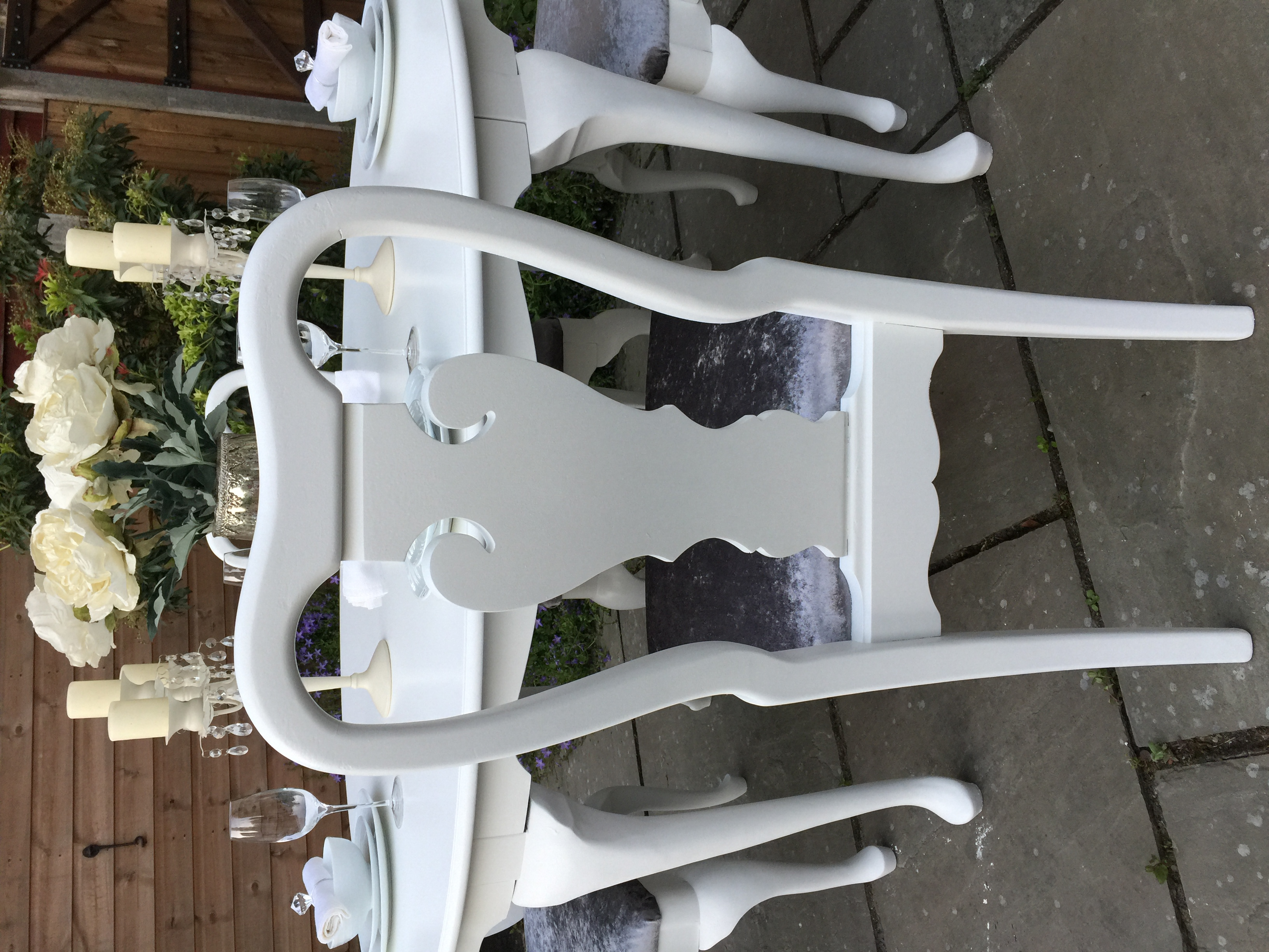 Queen Anne Double Extending Dining Table & 6 Chairs