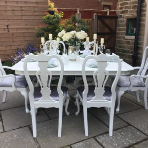 Vintage Extending Dining Table 6 Chairs