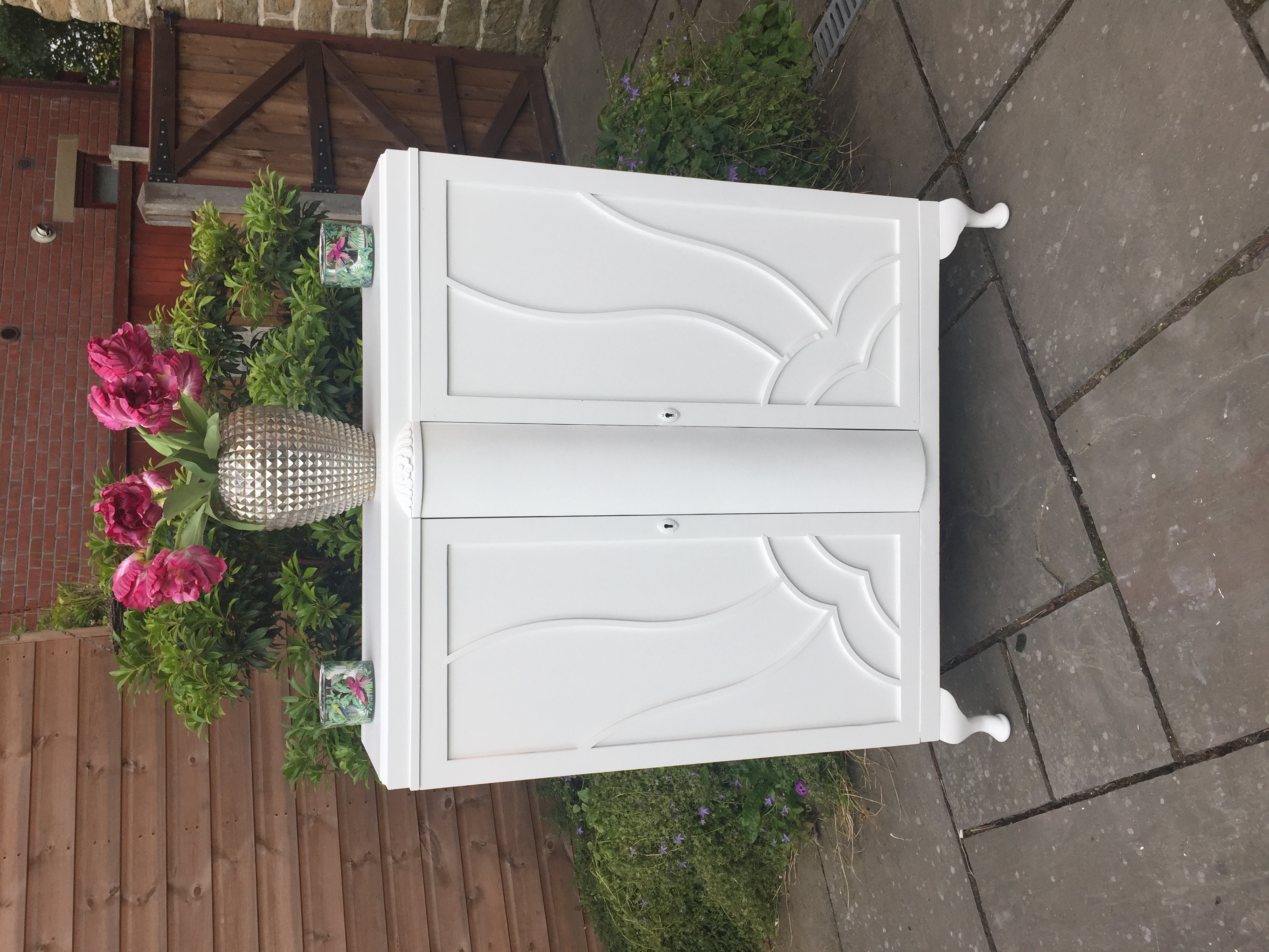 Art Deco White Cabinet