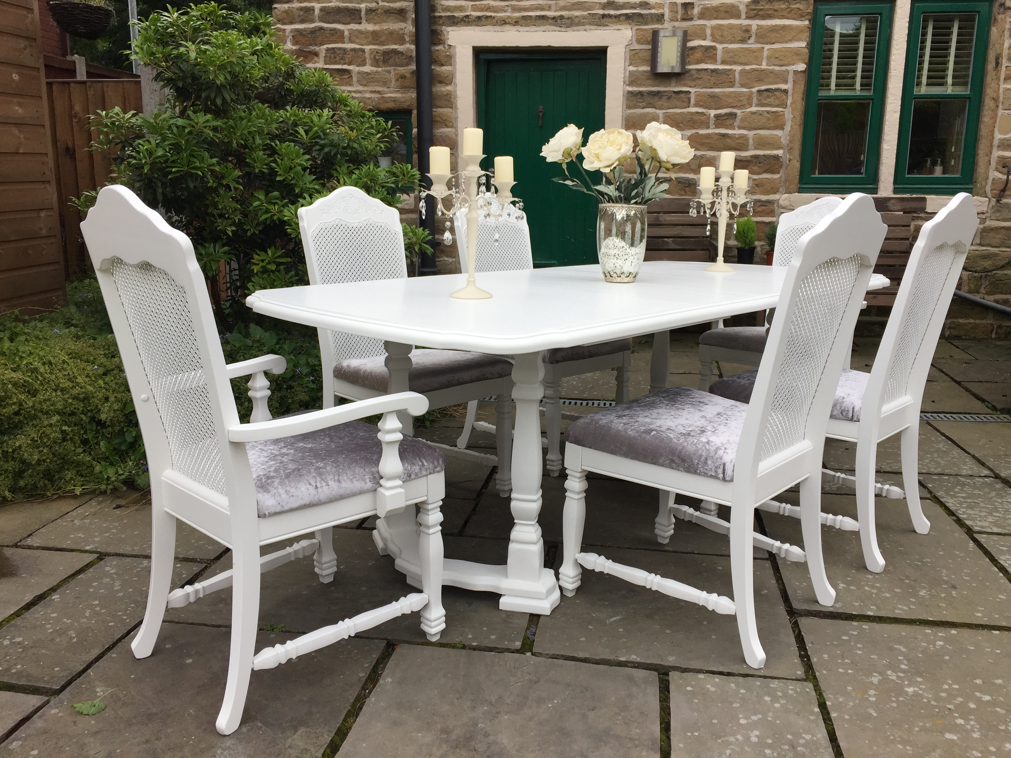 Bergere Extending Dining Table & 6 Chairs