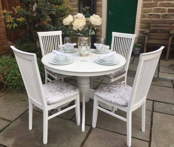 Vintage Dining Table & 4 Chairs