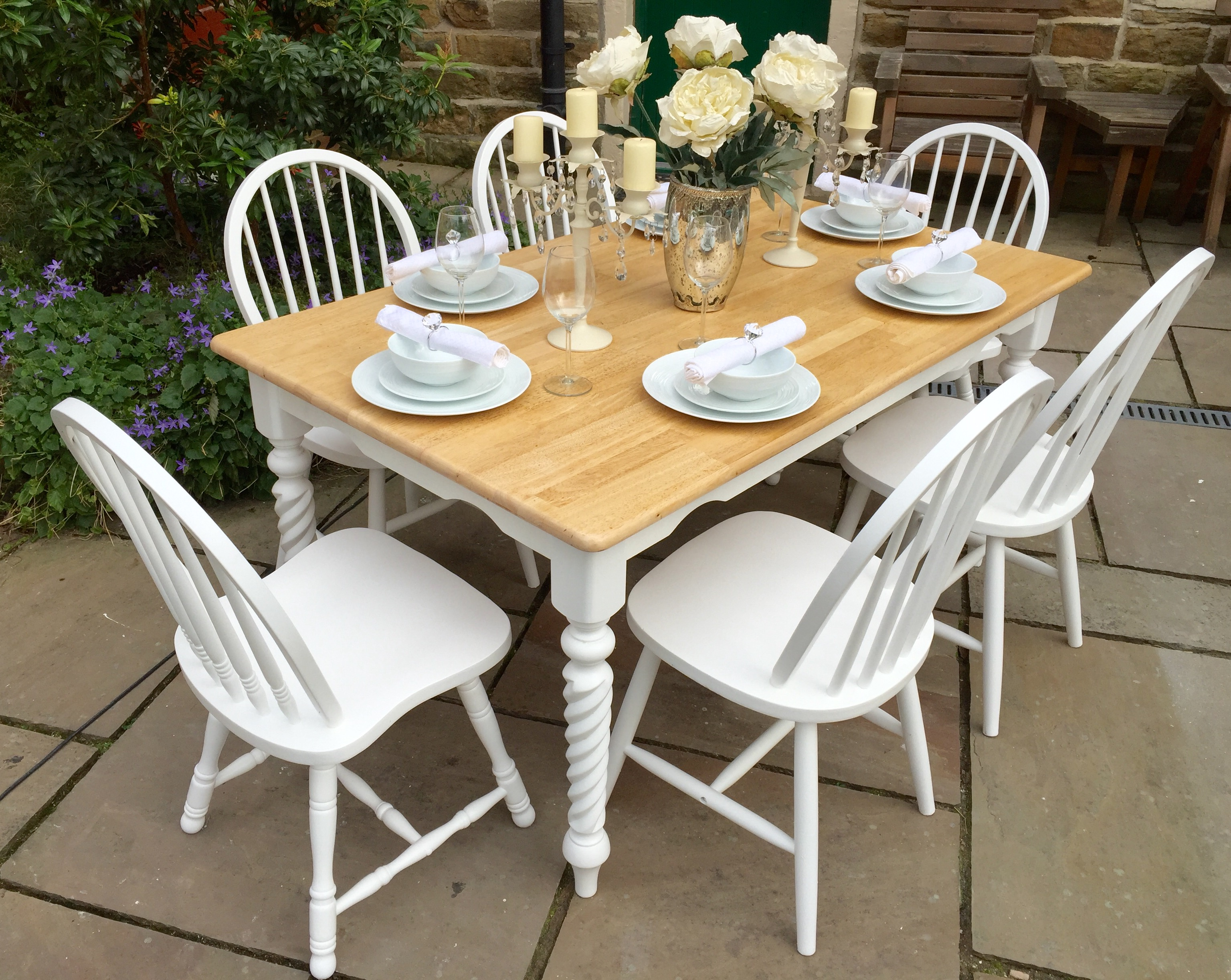 Farmhouse Dining Table & 6 Chairs